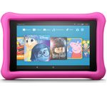 £129.99, AMAZON Fire HD 8 Kids Edition Tablet (2018) - 32 GB, Pink, Fire OS 5, HD Ready display, Store up to 6 hours of HD video / up to 7500 photos, Battery life: Up to 12 hours, microSD card reader,