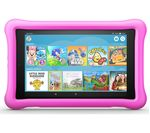 £129.99, AMAZON Fire HD 8inch Kids Edition Tablet (Oct 2018) - 32 GB, Pink, Fire OS 5, HD Ready display, Store up to 6 hours of HD video / up to 7500 photos, Battery life: Up to 10 hours, microSD card reader,