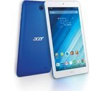£109.97, ACER Iconia One B1-850 8inch Tablet - 16 GB, Blue, Android 5.1 (Lollipop), 188 pixels per inch, MediaTek MT8163 Cortex A53 Processor, Over 1 million apps available from Google Play, microSD card slot,