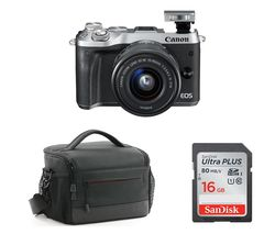buy canon eos m6 mirrorless camera with 15 45 mm f/3.5 6.3