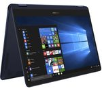 £1099.99, ASUS Zenbook Flip S 13.3inch 2 in 1 - Royal Blue, Achieve: Fast computing with the latest tech, Windows 10, Intel® Core™ i5-7200U Processor, RAM: 8GB / Storage: 512GB SSD, Full HD display,