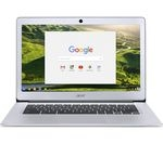 £249.99, ACER CB3-431 14inch Intel® Celeron® Chromebook - 32 GB eMMC, Silver, Chrome OS, Intel® Celeron® Processor N3160, RAM: 4GB / Storage: 32GB eMMC, Full HD display, Battery life:Up to 12 hours,