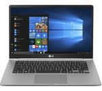£1199, LG GRAM i14Z980 14inch Intel® Core™ i5 Laptop - 256 GB SSD, Silver, Achieve: Fast computing with the latest tech, Windows 10, Intel® Core™ i5-8250U Processor, RAM: 8GB / Storage: 256GB SSD, Full HD display,