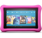 £99.99, AMAZON Fire 7 Kids Edition Tablet (2017) - 16 GB, Pink, 2 year accidental damage guarantee included, Fire OS, 171 pixels per inch, MediaTek MT8127 Processor, Apps available from Amazon Appstore,
