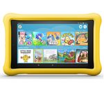 £129.99, AMAZON Fire HD 8inch Kids Edition Tablet (Oct 2018) - 32 GB, Yellow, Fire OS 5, HD Ready display, Store up to 6 hours of HD video / up to 7500 photos, Battery life: Up to 10 hours, microSD card reader,
