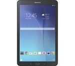£179.99, SAMSUNG Galaxy Tab E 9.6inch Tablet - 8 GB, Black, Android 4.4 (KitKat), microSD card slot, micro USB, 2 year manufacturer's guarantee,