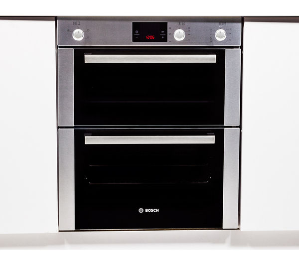 Bosch Hbn13b251b Electric Built Under Double Oven Brushed Steel