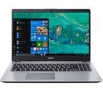 £849, ACER Aspire 5 A515-52 15.6inch Intel® Core™ i7 Laptop - 256 GB SSD, Silver, Achieve: Fast computing with the latest tech, Windows 10, Intel® Core™ i7-8565U Processor, RAM: 4GB / Storage: 256GB SSD, Full HD display,
