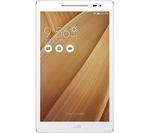 £139.99, ASUS Z380M 8inch Tablet - 16 GB, Gold, Android 6.0 (Marshmallow), 188 pixels per inch, 1.3GHz quad-core processor, Over 1 million apps available from Google Play, microSD card slot,