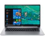 £1049, ACER Swift 5 SF515-51T 15.6inch Intel® Core™ i7 Laptop - 256 GB SSD, Silver, Achieve: Fast computing with the latest tech, Windows 10, Intel® Core™ i7-8565U Processor, RAM: 8GB / Storage: 256GB SSD, Full HD display,