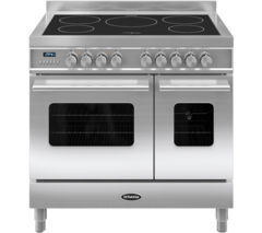 BRITANNIA Delphi 90 Twin Electric Induction Range Cooker - Stainless Steel