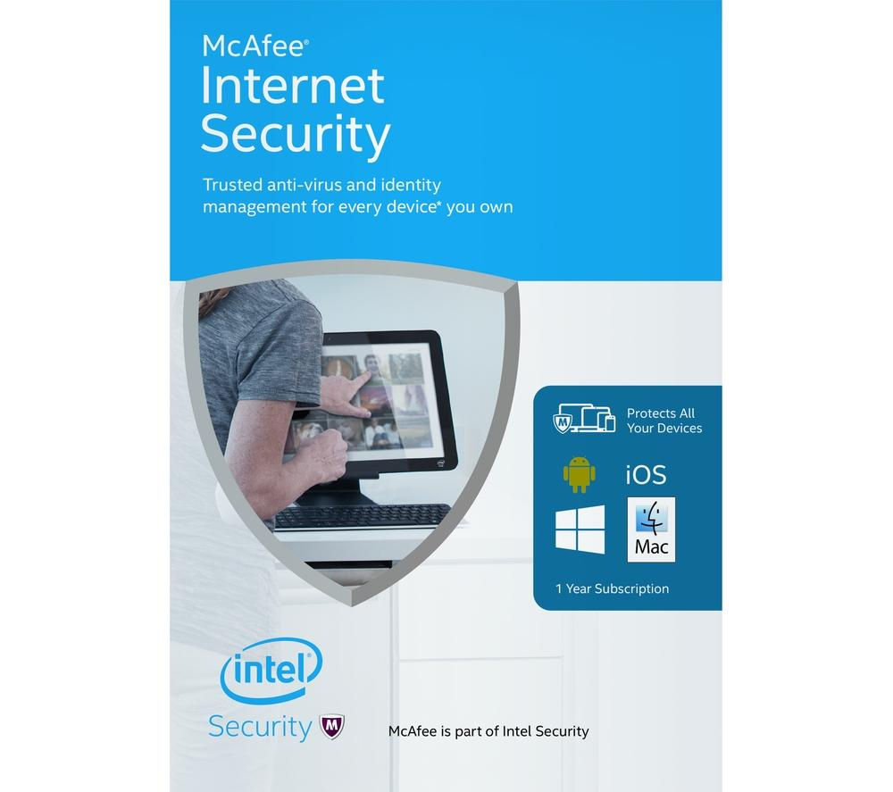 MCAFEE Internet Security 2016 - 1 year for unlimited devices (download)