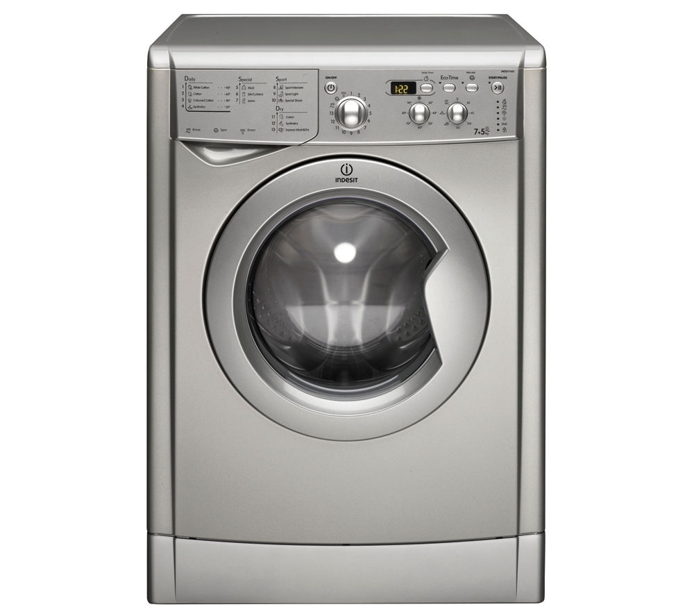 INDESIT Ecotime IWDD7143S Washer Dryer - Silver