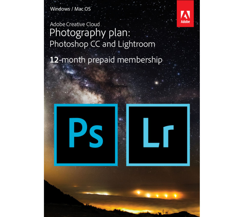 ADOBE Creative Cloud Photography Plan, Red