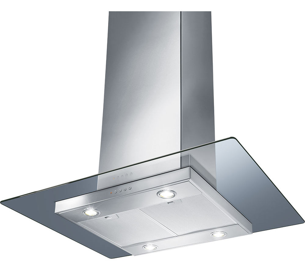 Image of SMEG KEIV90E Chimney Cooker Hood - Stainless Steel & Glass, Stainless Steel