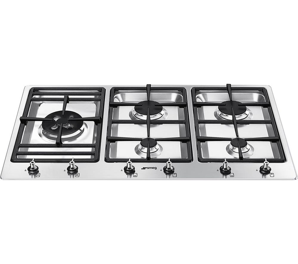 SMEG PS906-4 Gas Hob - Stainless Steel