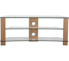 TTAP Vision Curve 1200 TV Stand - Oak