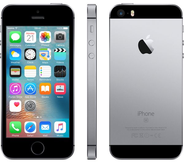 buy apple iphone se 128 gb space grey free delivery. Black Bedroom Furniture Sets. Home Design Ideas