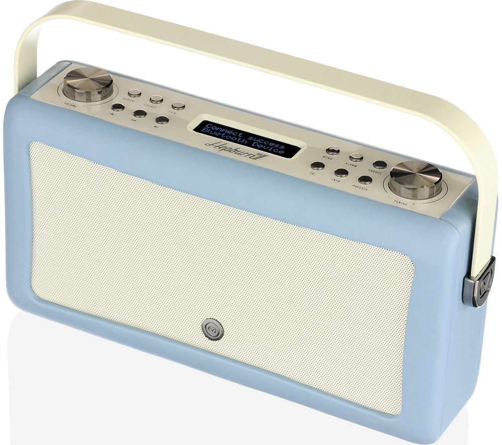 Image of VQ Hepburn Mk II Portable DAB+/FM Bluetooth Clock Radio - Blue, Blue