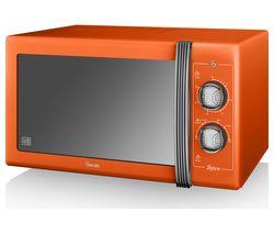 SWAN Retro SM22070ON Solo Microwave - Orange