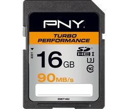 PNY Turbo Performance Class 10 SDHC Memory Card - 16 GB