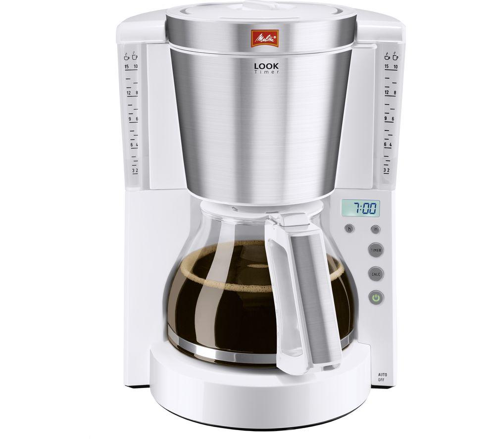 MELITTA Look IV Timer Filter Coffee Machine - White