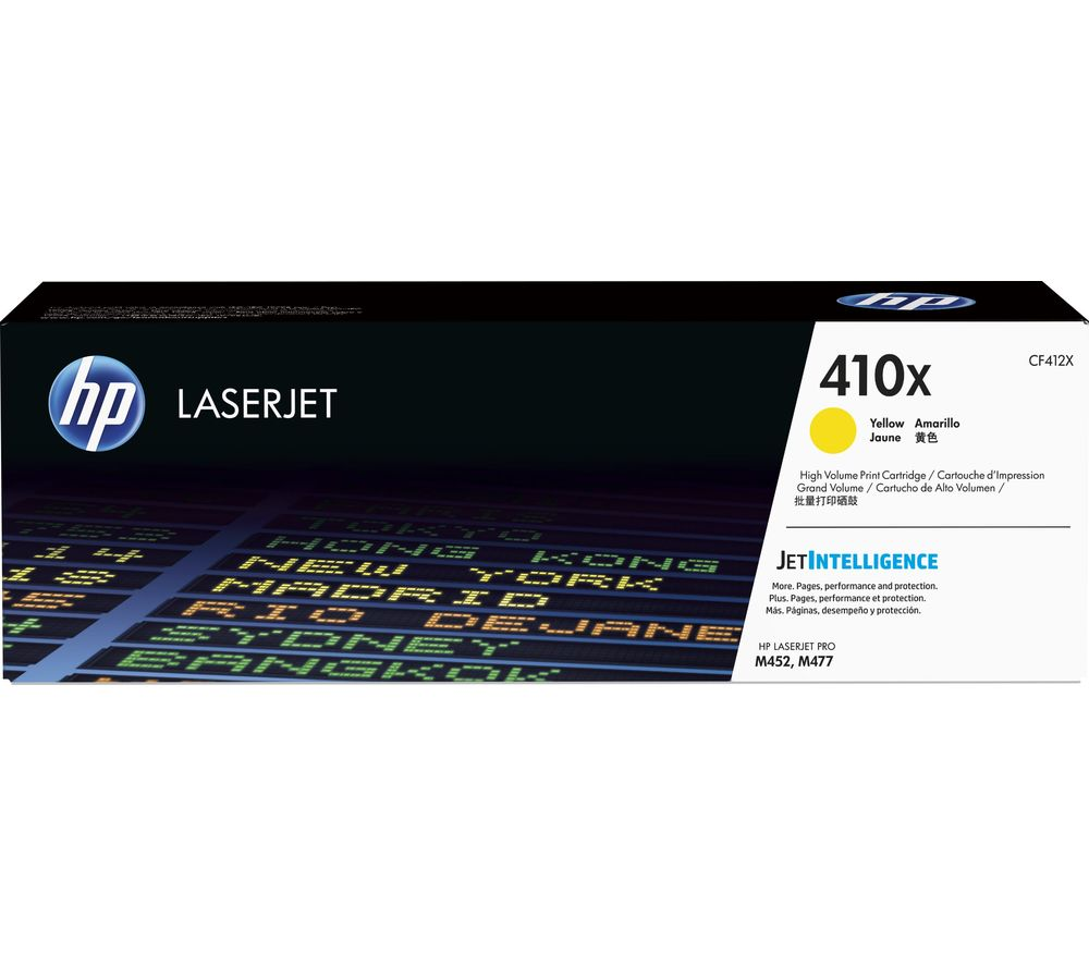 HP 410X High Yield Original LaserJet Yellow Toner Cartridge