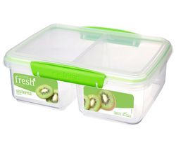 SISTEMA Split Rectangular 2 litre Container - Green