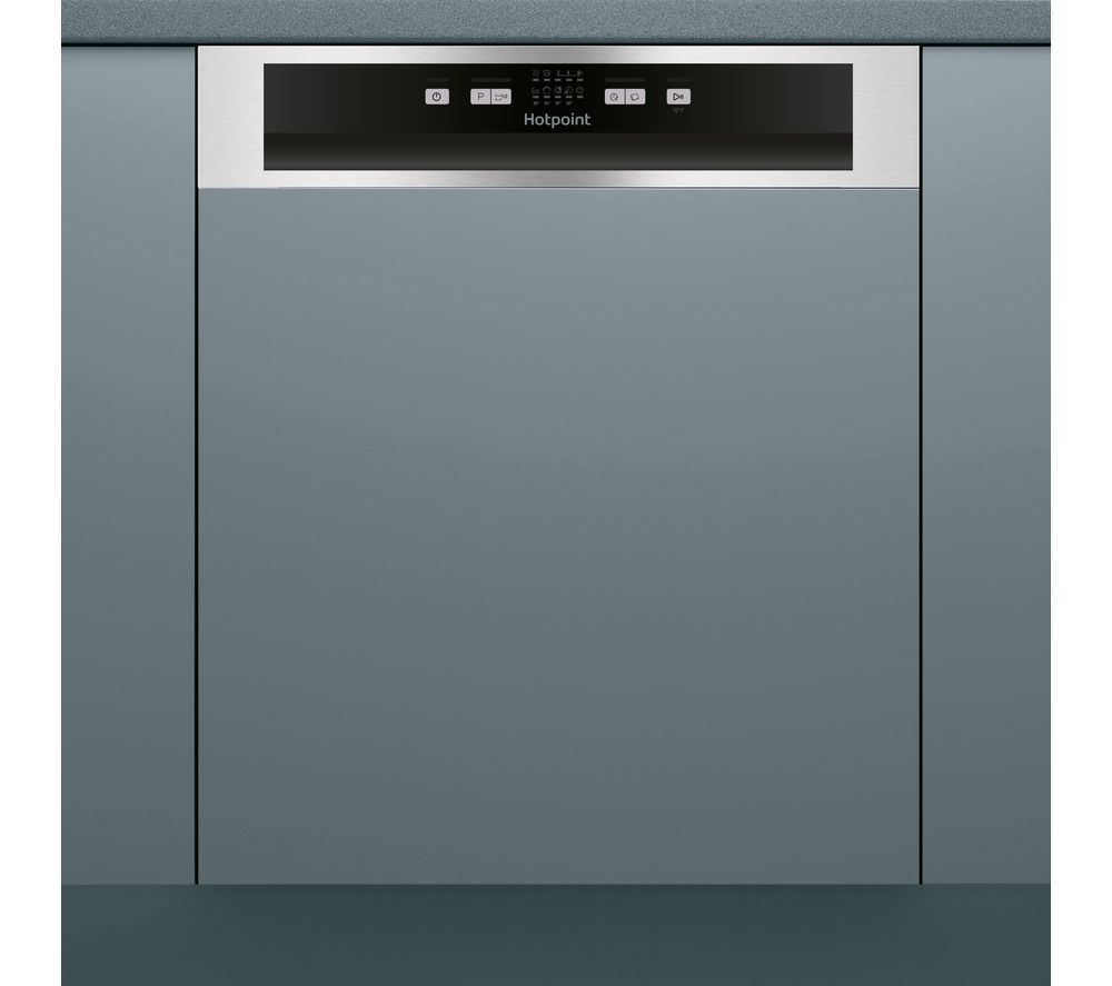 HOTPOINT HBC 2B19 X Full-size Semi-Integrated Dishwasher - Inox