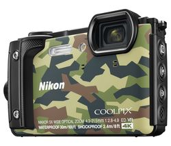 NIKON COOLPIX W300 Tough Compact Camera - Camo