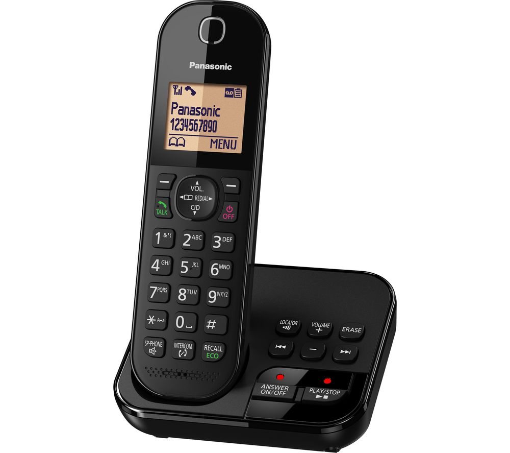 Buy PANASONIC KX-TGC420EB Cordless Phone with Answering ...