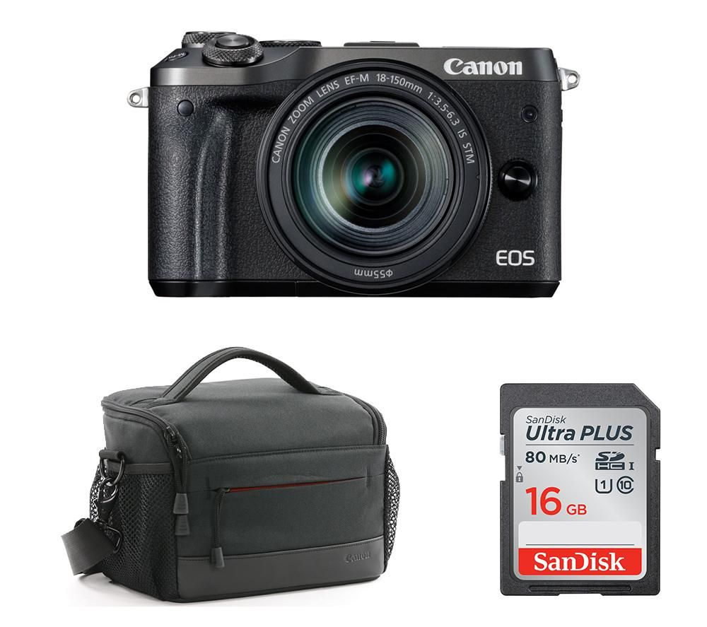 Compare prices for Canon CANON EOS M6 Mirrorless Camera with Accessory Bundle