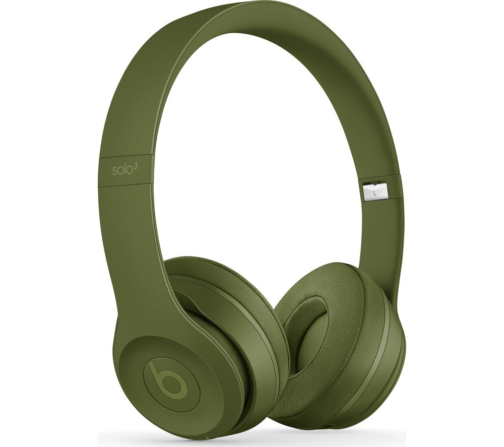 Compare retail prices of Beats Solo 3 Neighbourhood Wireless Bluetooth Headphones - Turf Green to get the best deal online