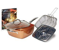 HIGH STREET TV Chef 5-piece Cookware Set - Copper