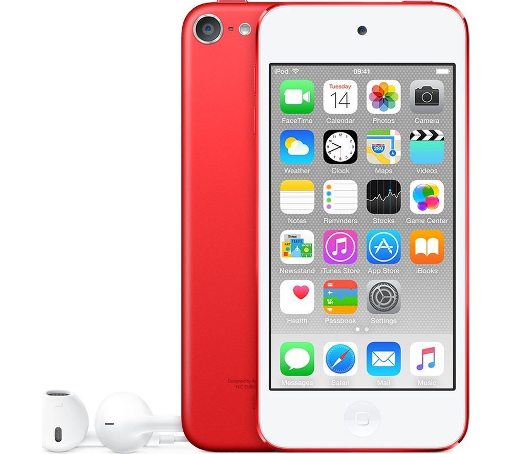 APPLE iPod touch - 64 GB, 6th Generation, Red, Red