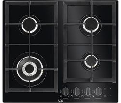 AEG HKB64NB540 Gas Hob - Black