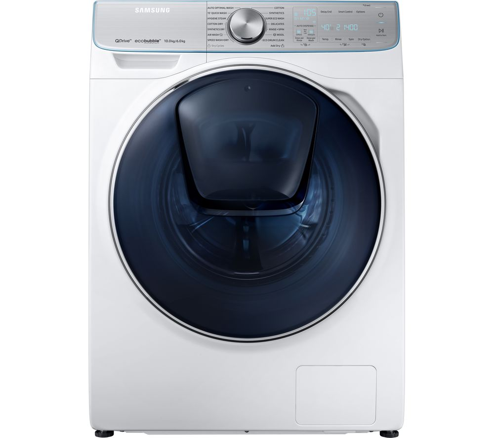 Samsung Washer Dryer WD10N84GNOA/EU Smart 10 kg  - White