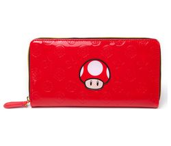 NINTENDO Mushroom All-Around Zipper Purse - Red