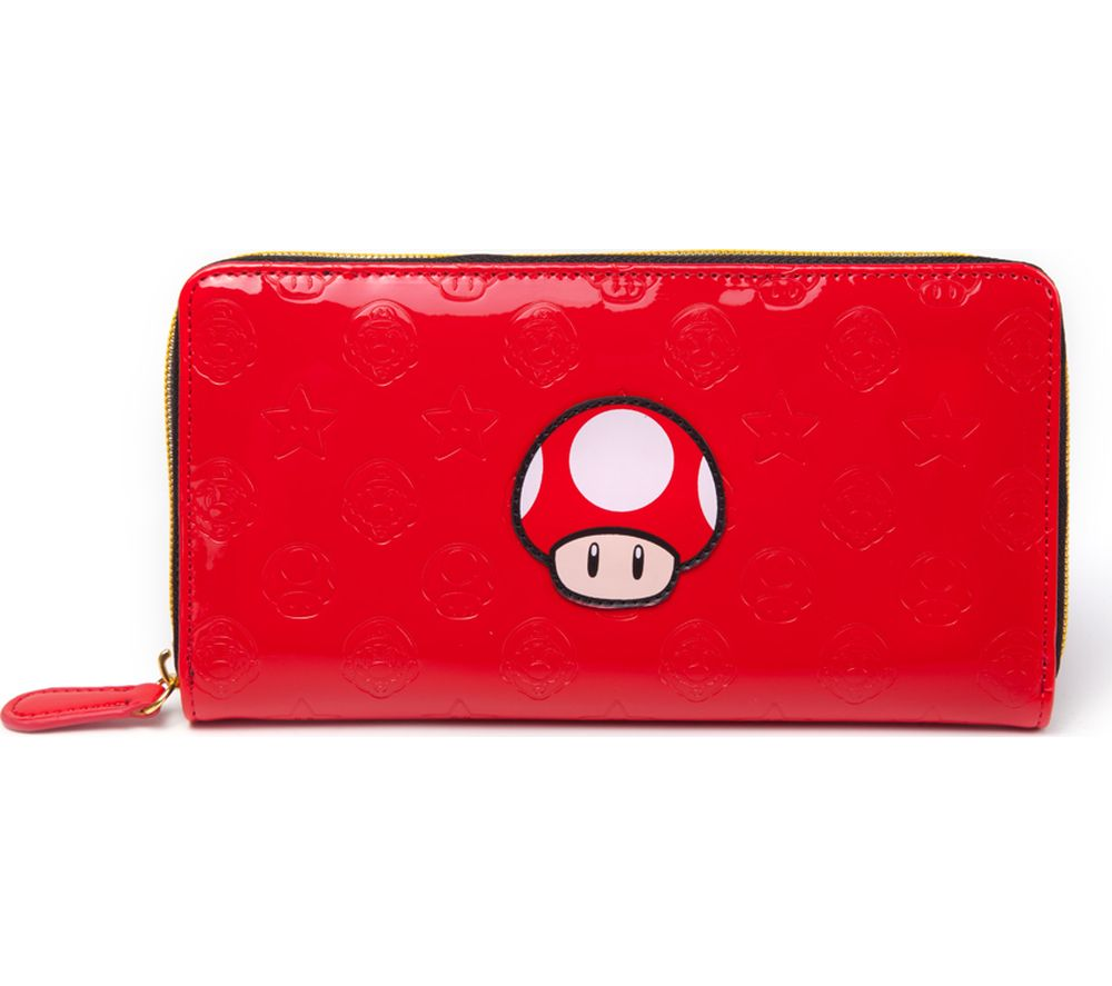 NINTENDO Mushroom All-Around Zipper Purse - Red