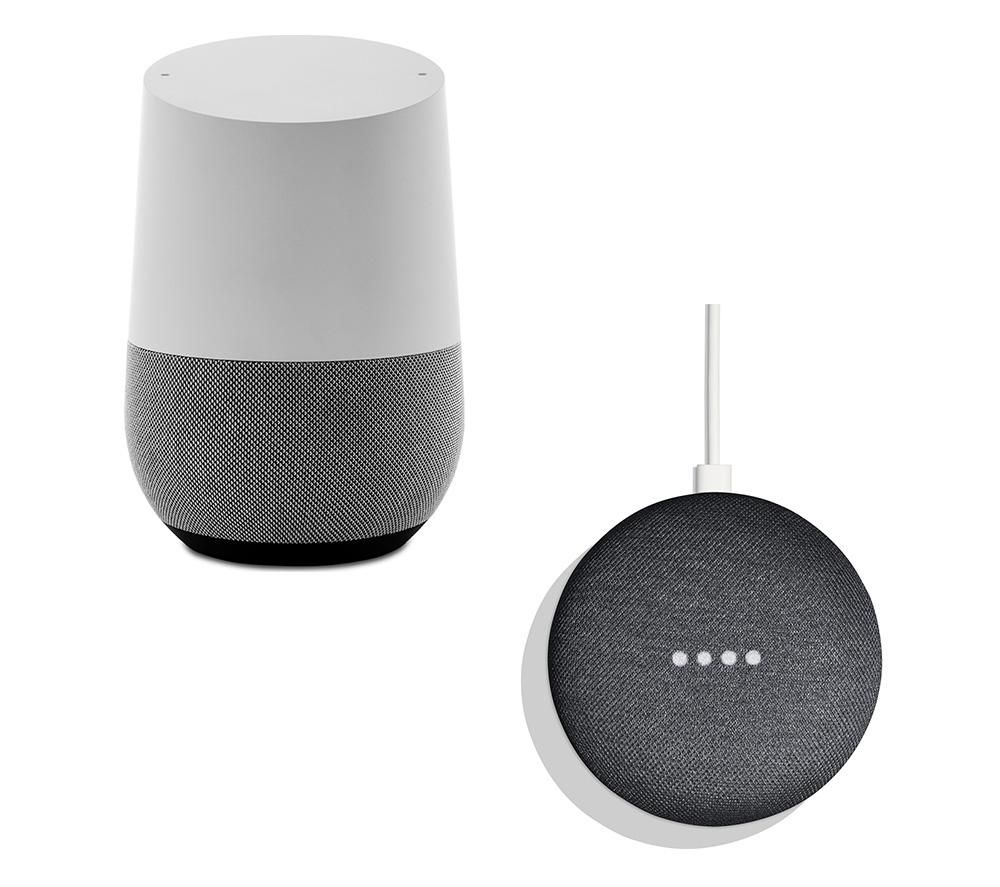 Image of GOOGLE Home & Home Mini Bundle - White & Charcoal, White