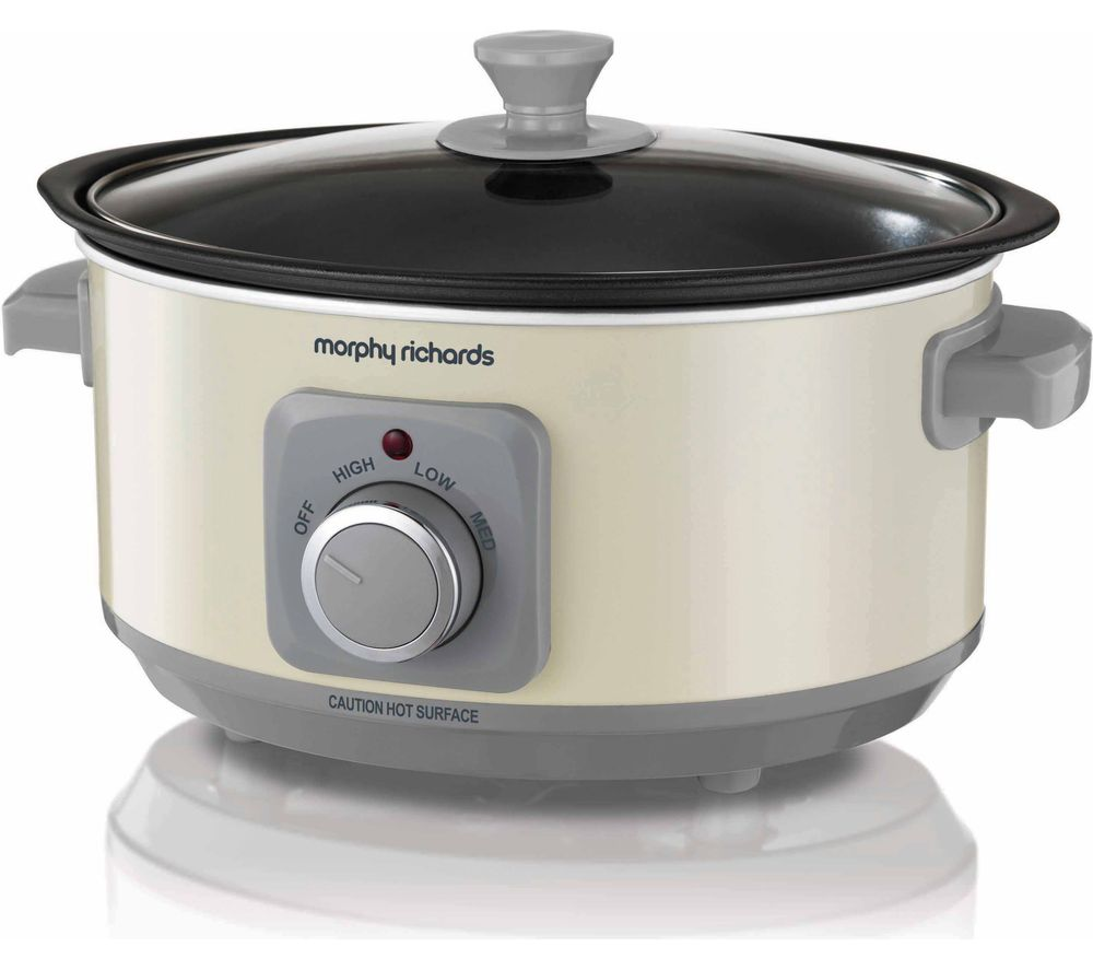 MORPHY RICHARDS Evoke Sear & Stew 460013 Slow Cooker - Cream