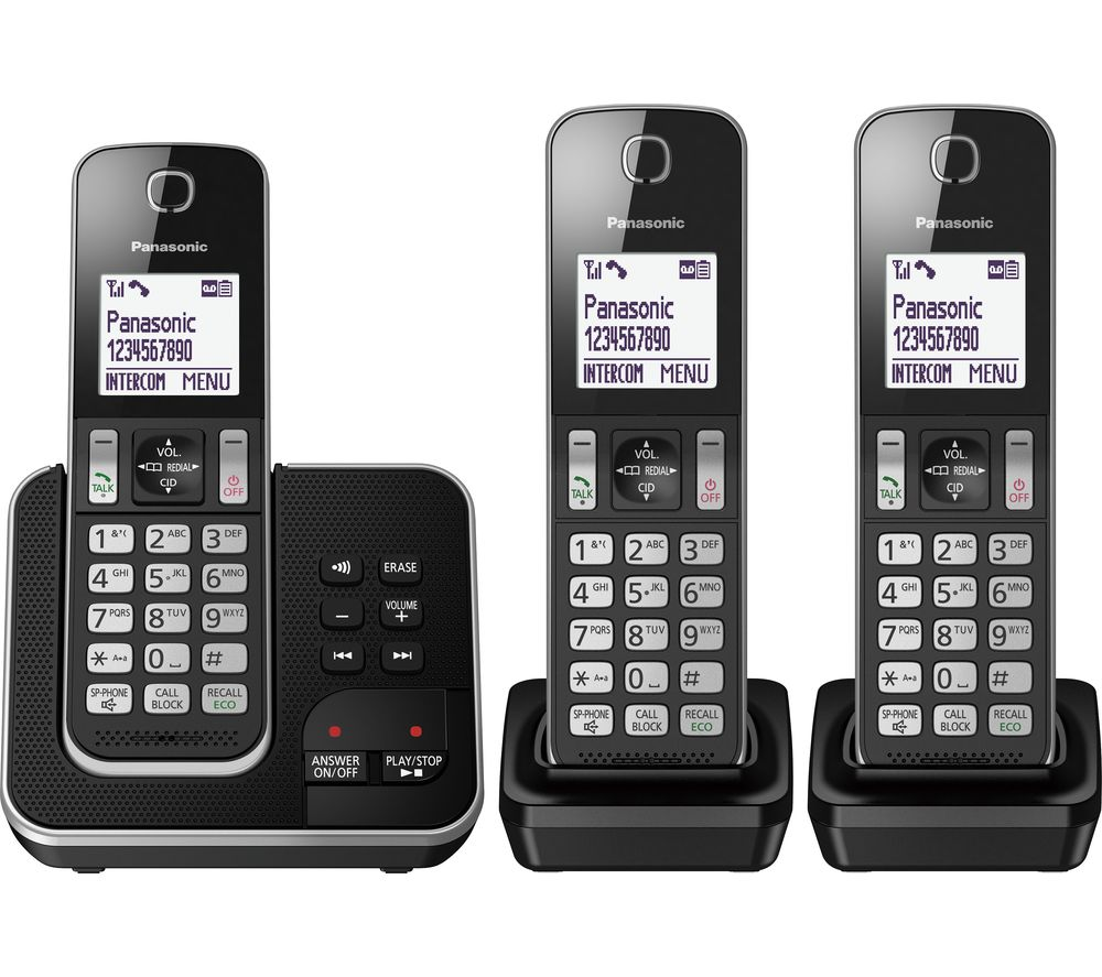 buy panasonic kx tgd623eb cordless phone triple handsets free rh currys co uk Guide Plus TiVo RCA Guide Plus Gemstar Manual