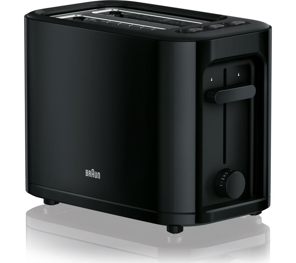 BRAUN Series 3 PurEase HT3000.BK 2-Slice Toaster - Black