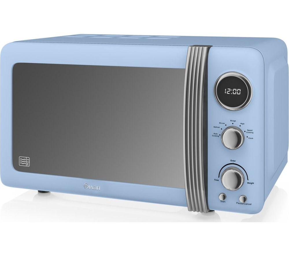 SWAN SM22030BLN Solo Microwave - Blue, Blue