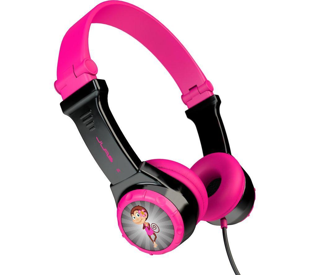 JLAB AUDIO JBuddies Folding Kids Headphones - Pink