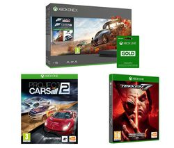 MICROSOFT Xbox One X, Forza Horizon 4, Forza Motorsport 7, Tekken 7, Project Cars 2 & 3 Months LIVE Gold Membership Bundle