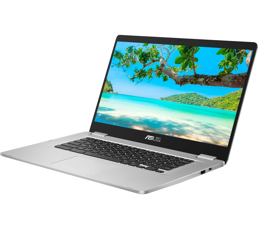 "Image of ASUS C523 15.6"" Intel® Celeron Chromebook - 64 GB eMMC, Silver, Silver"