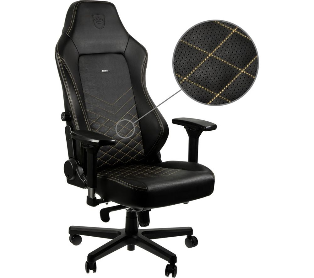 NOBLE CHAIRS HERO Gaming Chair - Black & Gold