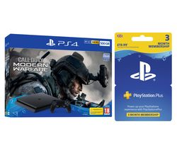 SONY PlayStation 4 with Call of Duty: Modern Warfare & PlayStation Plus 3 Month Subscription Bundle