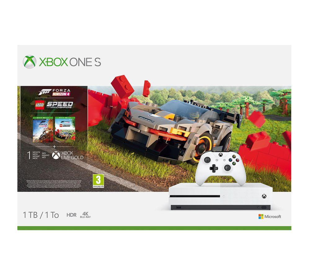 MICROSOFT Xbox One S with Forza Horizon 4 & LEGO Speed Champions